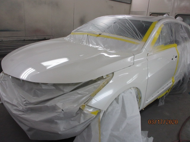 Acura RDX Mid-Repair Front Left Painting View