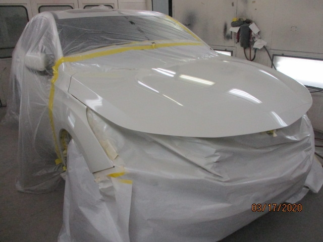 Acura RDX Mid-Repair Front Right Painting View