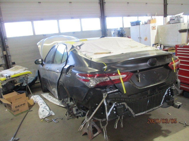 Toyota Camry Mid-Repair Back Left View