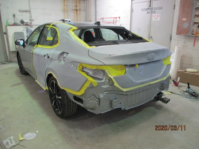 Toyota Camry Repaint Back Left View