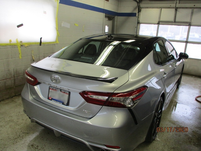 Toyota Camry Mid-Repair Back Right View
