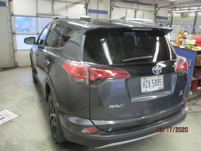 Toyota RAV4 After Repair Back Left View