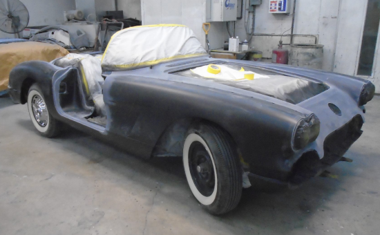 Chevrolet Corvette Mid Restoration- After Painting- Side View