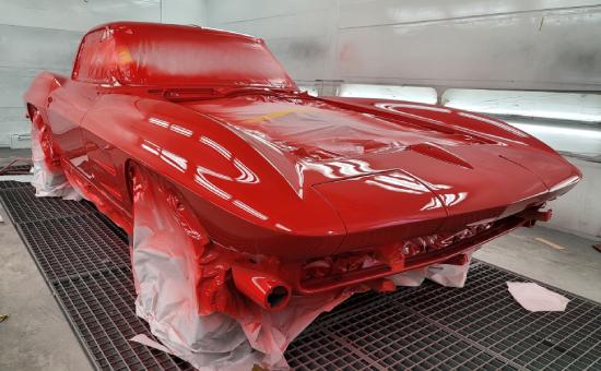 Chevrolet Corvette Mid Restoration Front Right View
