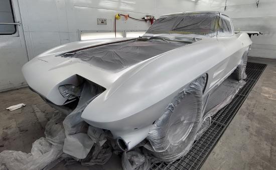 Chevrolet Corvette Mid Restoration Front Left View