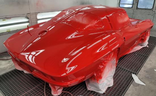 Chevrolet Corvette Mid Restoration Back Right View