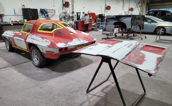 Chevrolet Corvette Mid Restoration Side View