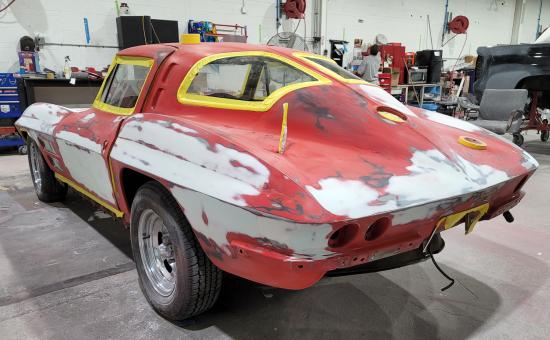 Chevrolet Corvette Mid Restoration Back View