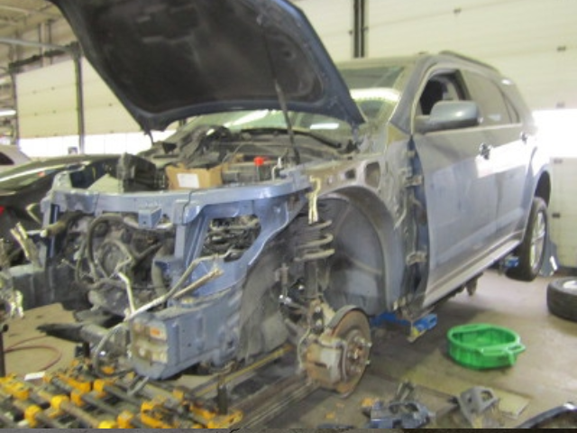 Chevy Equinox Mid-Repair Front Left View