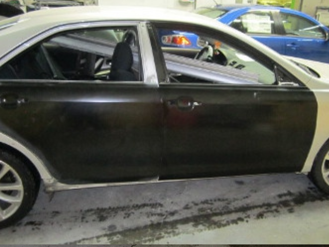 Toyota Camry Mid-Repair Side View