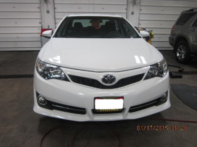 Toyota Camry Before Repair Front View