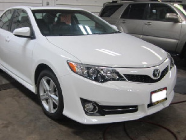 Toyota Camry After Repair Front Right View